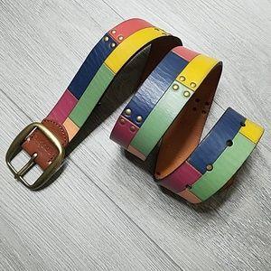 FOSSIL Color Block Leather Belt